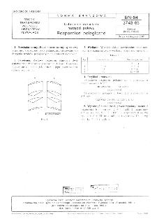 Uzbrojenie rybackich narzędzi połowu - Rozpornice pelagiczne BN-84/3743-65