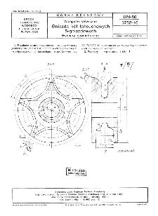 Wciągarki kotwiczne - Gniazda kół łańcuchowych 5-gniazdowych - Wymiary geometryczne BN-80/3752-10