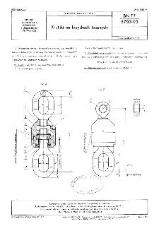 Krętliki na łożyskach tocznych BN-77/3753-05