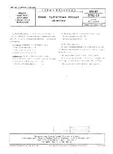 Wnęki hydrantowe stalowe okrętowe BN-87/3762-01