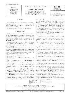 Zamki do drzwi i mebli okrętowych - Ogólne wymagania i badania BN-84/3763-05