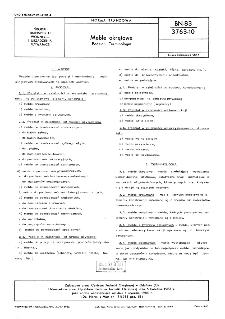 Meble okrętowe - Podział - Terminologia BN-83/3763-10