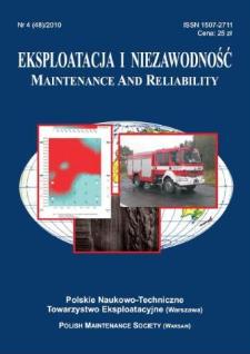 Eksploatacja i Niezawodność = Maintenance and Reliability Nr 4 (48)2010