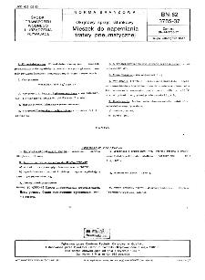 Okrętowy sprzęt ratunkowy - Mieszek do napełniania tratwy pneumatycznej BN-82/3765-37