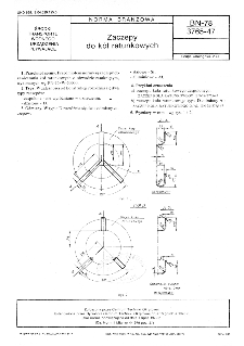 Zaczepy do kół ratunkowych BN-78/3765-47