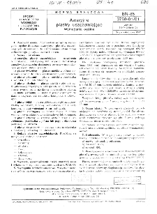Awaryjne plastry uszczelniające - Wymagania ogólne BN-85/3768-01/01