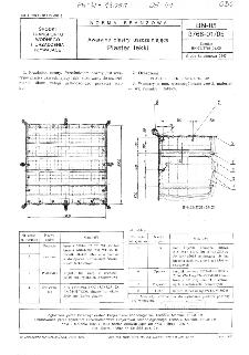 Awaryjne plastry uszczelniające - Plaster lekki BN-85/3768-01/05