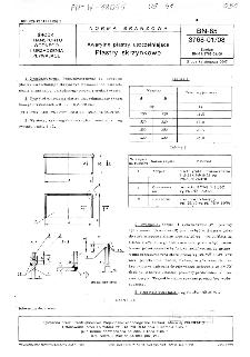 Awaryjne plastry uszczelniające - Plastry skrzynkowe BN-85/3768-01/08