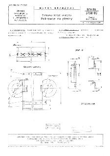 Okrętowy sprzęt awaryjny - Pokrowce na plastry BN-85/3768-09