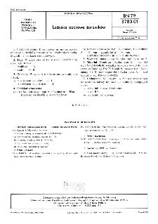Łożyska oporowe żurawików BN-79/3783-01