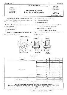 Maszty statków śródlądowych - Bloki do lin włókiennych BN-75/3784-04
