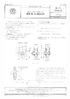 Maszty statków śródlądowych - Bloki do lin stalowych BN-75/3784-05