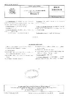 Uchwyty latarń sygnałowo-pozycyjnych statków śródlądowych - Uchwyty E BN-79/3784-09.01