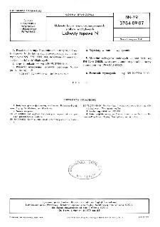 Uchwyty latarń sygnałowo-pozycyjnych statków śródlądowych - Uchwyty topowe N BN-79/3784-09.07