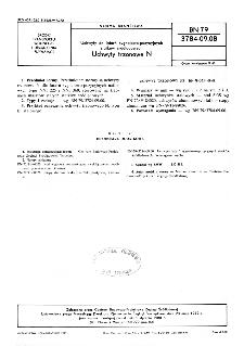 Uchwyty do latarń sygnałowo-pozycyjnych statków śródlądowych - Uchwyty trzonowe N BN-79/3784-09.08