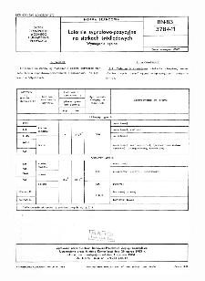 Latarnie sygnałowo-pozycyjne na statkach śródlądowych - Wymagania ogólne BN-83/3784-11