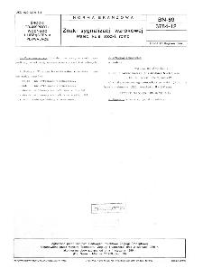 Znaki sygnalizacji wzrokowej - Walec, kule, stożki, romb BN-89/3784-12