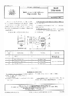 Barierki stalowe statków śródlądowych - Ogranicznik liny BN-81/3786-10.05