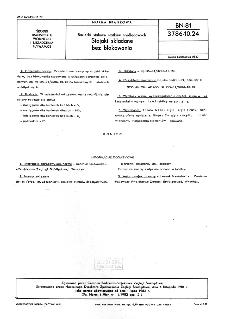 Barierki stalowe statków śródlądowych - Stojaki składane bez blokowania BN-81/3786-10.24