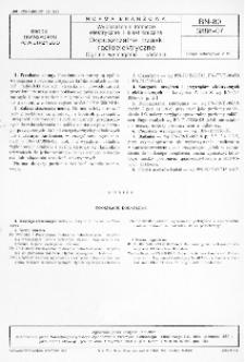 Wyposażenie lotnicze elektryczne i elektroniczne - Dopuszczalne trzaski radioelektryczne - Ogólne wymagania i badania BN-80/3886-07