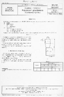 Autobusy i trolejbusy - Przestrzeń pasażerska - Podstawowe wymiary BN-82/3623-01