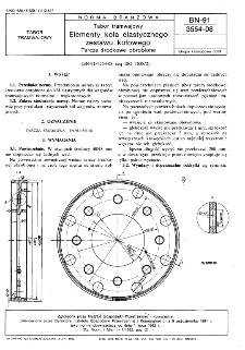 Tabor tramwajowy - Elementy koła elastycznego zestawu kołowego - Tarcze środkowe obrobione BN-91/3554-08