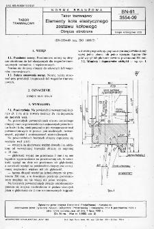 Tabor tramwajowy - Elementy koła elastycznego zestawu kołowego - Obręcze obrobione BN-91/3554-09