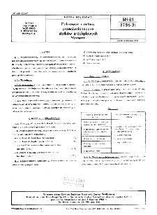 Pokrowce i oslony przeciwsłoneczne statków śródlądowych - Wymagania BN-81/3786-31