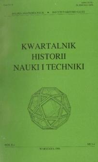 Kwartalnik Historii Nauki i Techniki R. 41 nr 3-4/1996