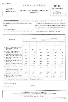 Syntetyczny węglan wapniowy - Wymagania BN-86/6016-05/02