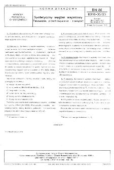 Syntetyczny węglan wapniowy - Pakowanie, przechowywanie i transport BN-86/6016-05/03
