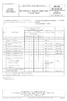 Syntetyczny węglan wapniowy - Program badań BN-86/6016-05/05