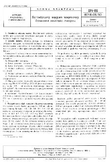 Syntetyczny węglan wapniowy - Oznaczanie zawartości manganu BN-86/6016-05/10