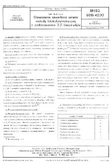 Sole fosforowe - Oznaczanie zawartości żelaza metodą fotokolorymetryczną z zastosowaniem 2,2'-dwupirydylu BN-82/6016-42.03
