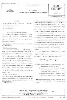 Sole fosforowe - Oznaczanie zawartości chlorków BN-82/6016-42.06