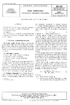 Sole fosforowe - Oznaczanie zawartości siarczanów BN-89/6016-42/07