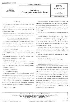 Sole fosforowe - Oznaczanie zawartości fluoru BN-82/6016-42.08