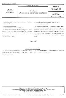 Sole fosforowe - Oznaczanie zawartości azotanów BN-82/6016-42.09