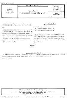 Sole fosforowe - Oznaczanie zawartości wody BN-82/6016-42.11