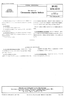 Sole fosforowe - Oznaczanie stopnia białości BN-82/6016-42.13