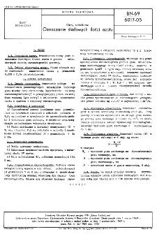 Gazy szlachetne - Oznaczanie śladowych ilości azotu BN-69/6017-05