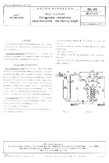 Gazy szlachetne - Oznaczanie zawartości węglowodorów i dwutlenku węgla BN-69/6017-07