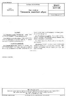 Gazy szlachetne - Oznaczanie zawartości wilgoci BN-69/6017-08