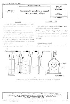 Oznaczanie acetylenu w gazach oraz w tlenie ciekłym BN-78/6018-01