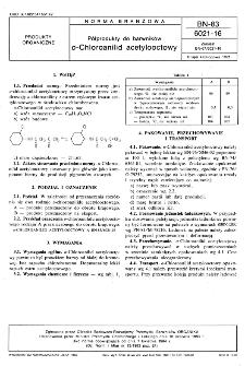 Półprodukty do barwników o-Chloroanilid acetylooctowy BN-83/6021-16