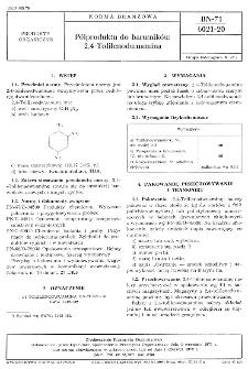 Półprodukty do barwników 2,4-Tolilenodwuamina BN-71/6021-20