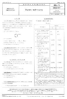 Styren techniczny BN-75/6022-01