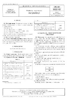 Produkty organiczne - Akrylonitryl BN-90/6022-02