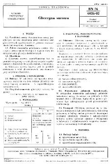 Gliceryna surowa BN-76/6026-02