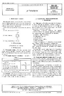 p-Toluidyna BN-83/6026-06